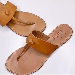 Joie a la Plage Tan Leather Nice Thong Sandals